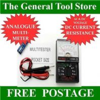 ANALOGUE MULTI TESTER / MULTIMETER FOR HOUSEHOLD, COMMERCIAL AND AUTOMOTIVE USE
